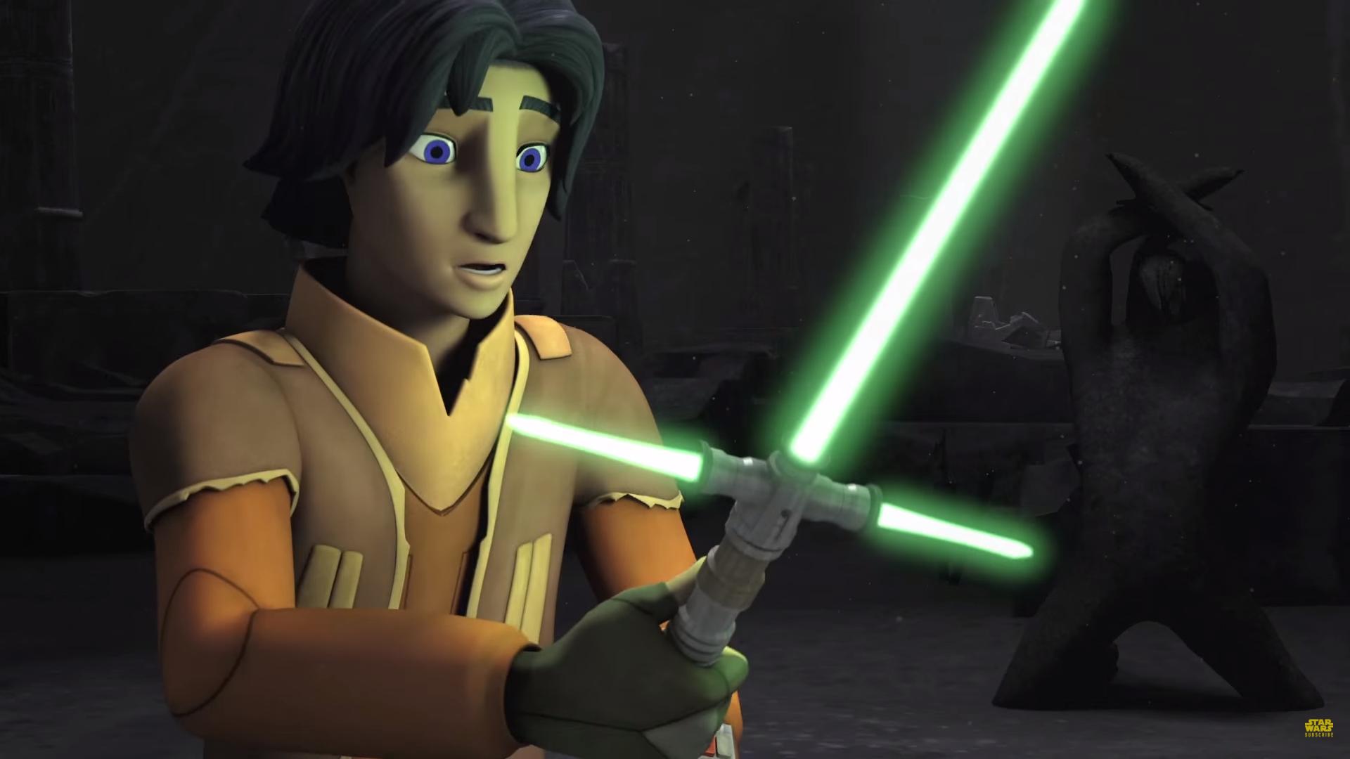 Мультсериал Звездные Войны: Повстанцы (Star Wars Rebels): Эзра со световым мечом с гардой